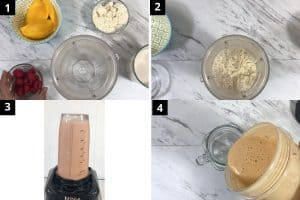 Add everything in the blender and blend till smooth consistency
