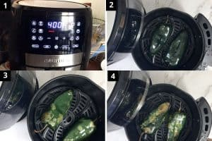 roasting peppers in air fryer at 400F temp