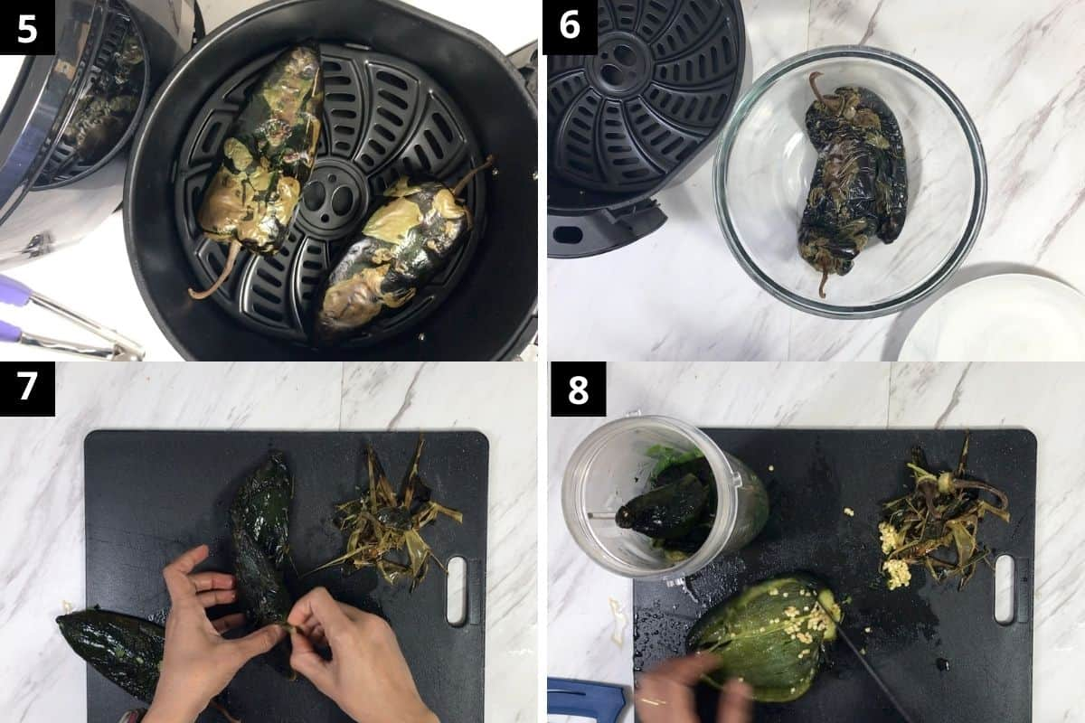 once roasted transfer them in a glass bowl and cover the lid.
