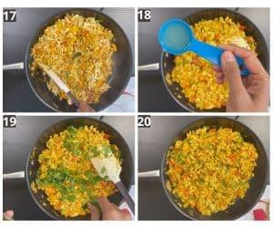 at last lemon juice & chopped coriander is added to the tofu scramble.