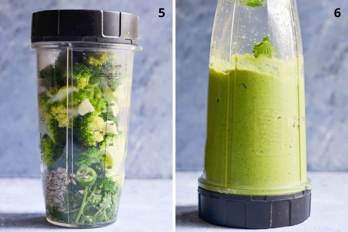 add all the ingredients in the blender and blend till smooth consistency