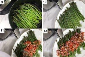asparagus is ready, serve it with fresh pico de gallo