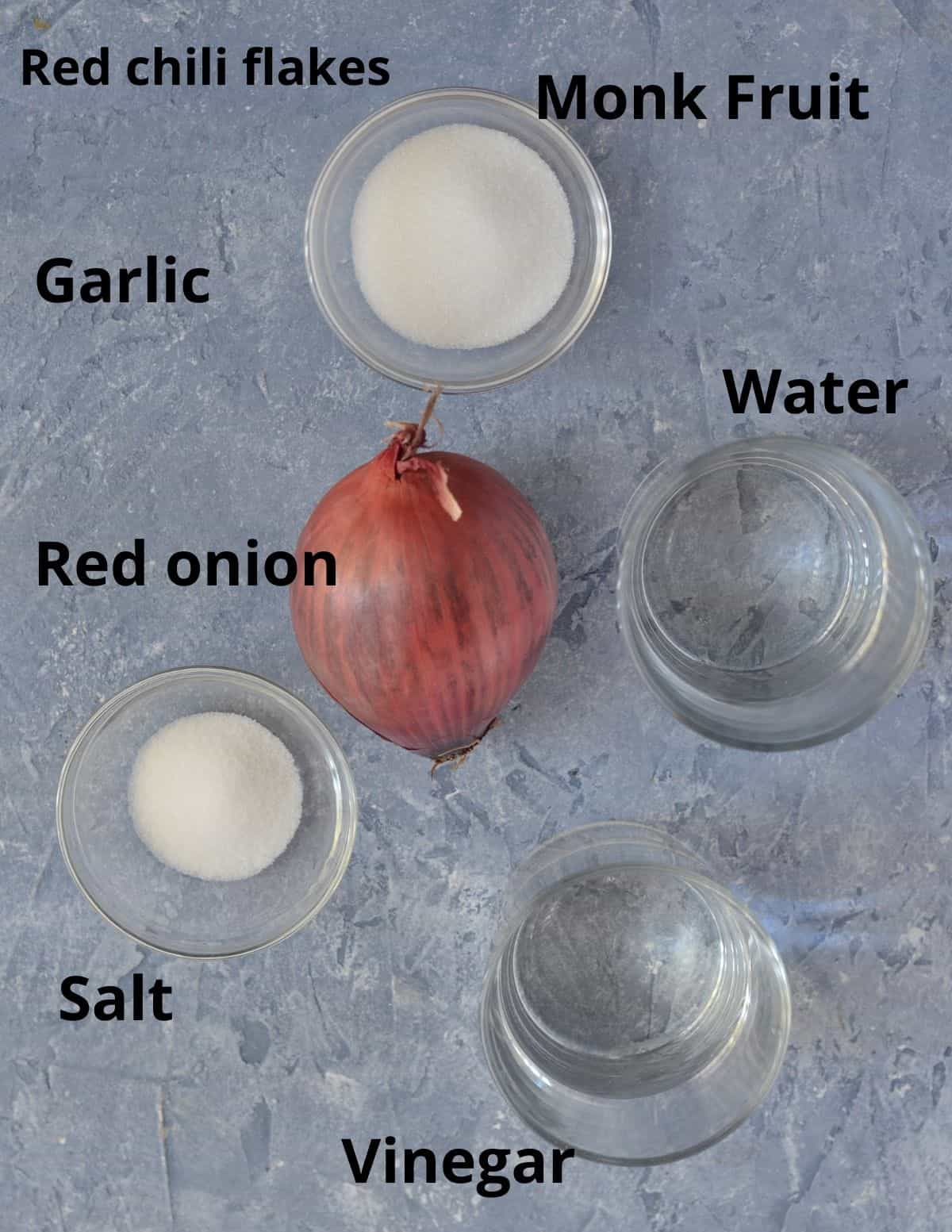 ingredients to make quick pickled onions