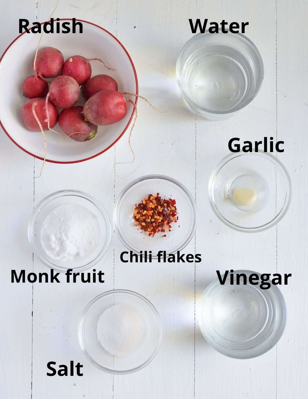 ingredients listed to make radish pickle