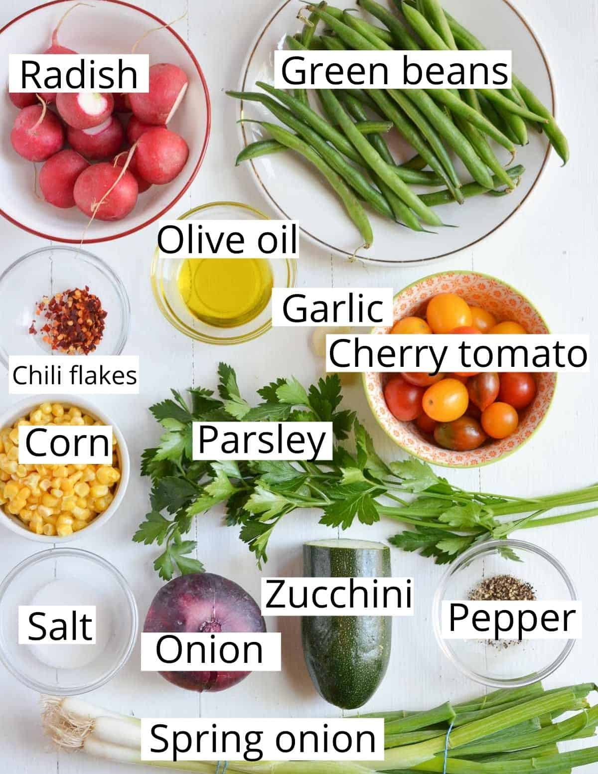 ingredients listed to make ciambotta from scratch